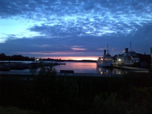Sunset at Gravenhurst Wharf