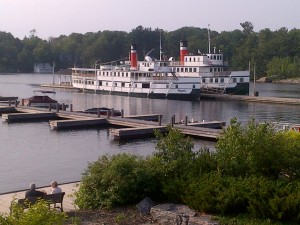 Old steamship mail boat and passenger boat for Muskoka Lakes