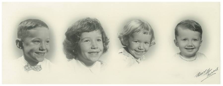 sketch of two boys and two girls