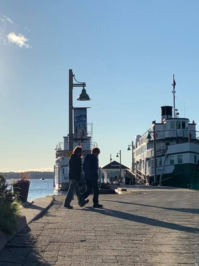 Two ships docked at Muskoka Wharf
